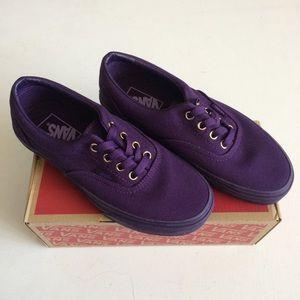 NWT Vans Purple & Gold Shoes